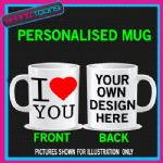 I LOVE HEART YOU COFFEE MUG GIFT